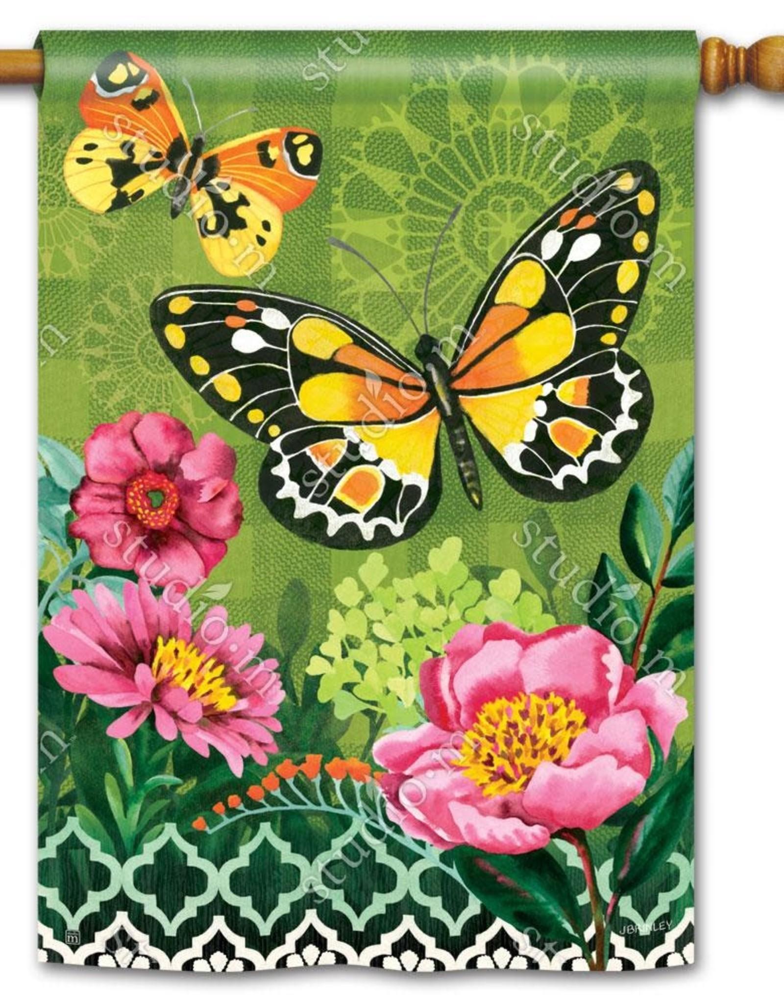 Studio M Butterflies Pink Flowers