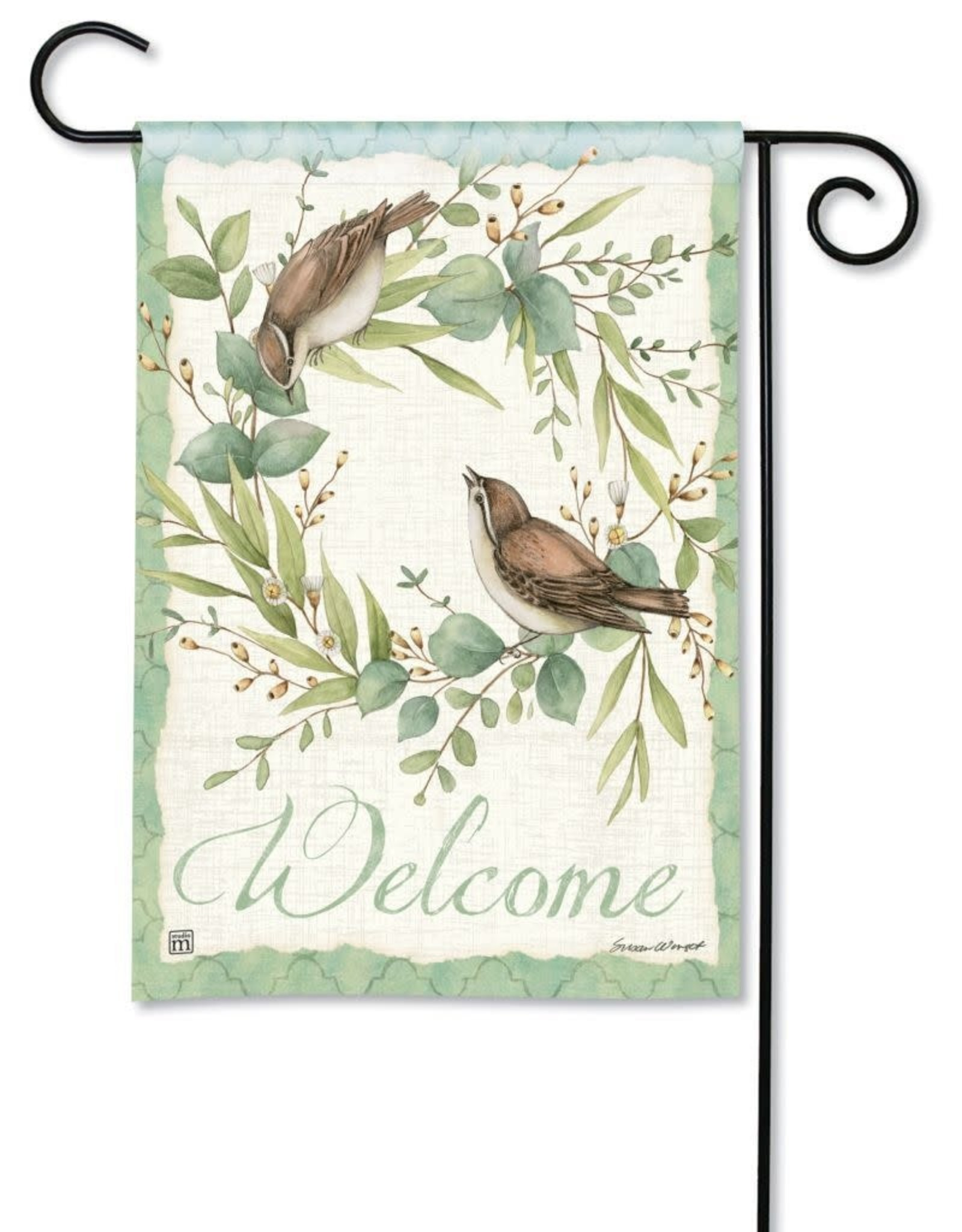 Studio M Eucalyptus Wreath Birds GF