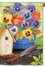 Studio M Pretty Pansy and Birdhouse