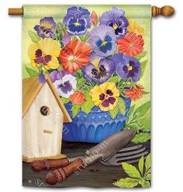 Studio M Pretty Pansy and Birdhouse