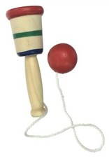 1 Mini Wooden Catch Ball Game