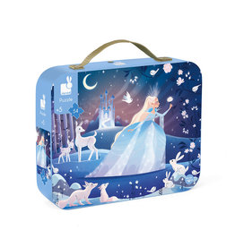 Janod 54 pc Puzzle Icy Enchantment Suitcase