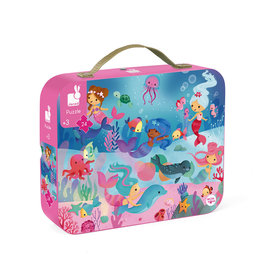 Janod 24pc Hat Box Mermaids Puzzle