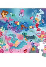 Janod 24pc Hat Box Mermaids Puzzle