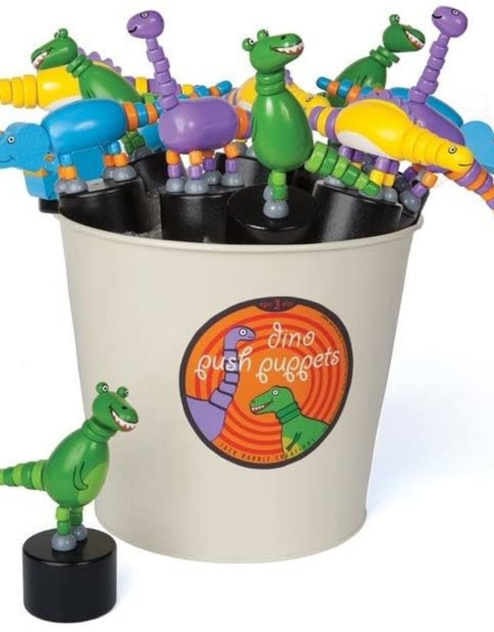 Jack Rabbit Push Puppet Dinosaur