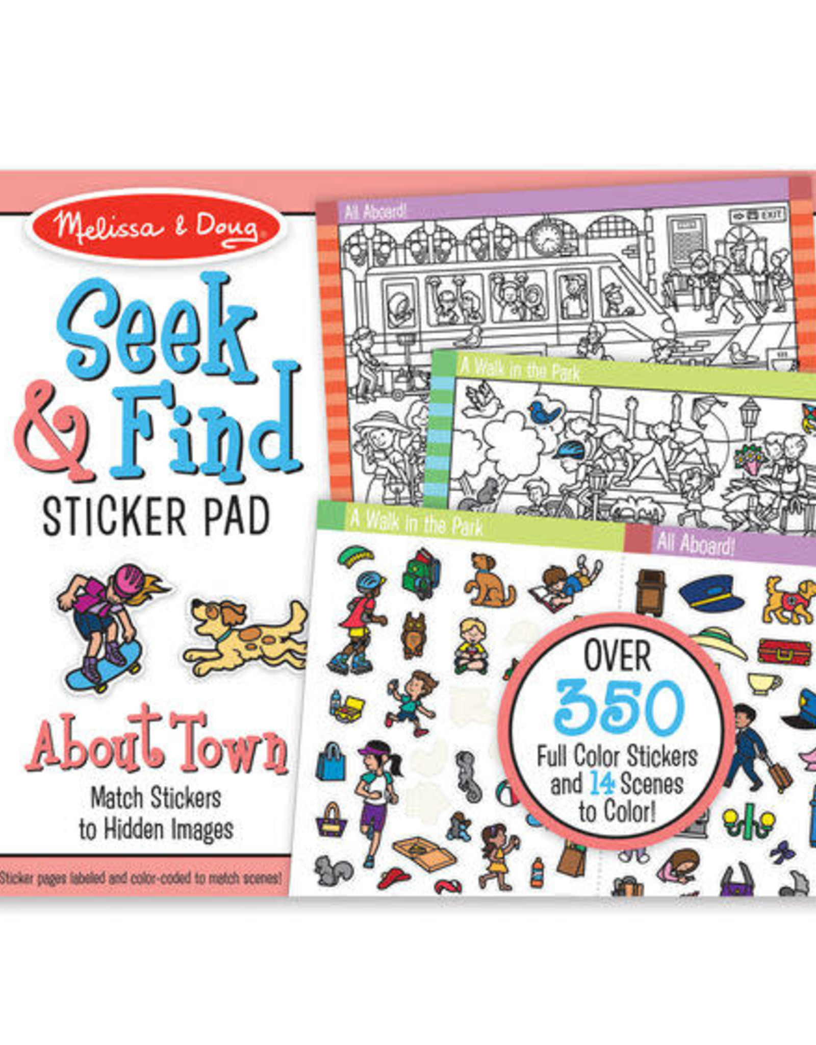 Melissa & Doug MD Seek & Find Sticker Pad Town