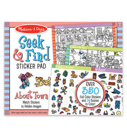 Melissa & Doug MD Seek & Find Sticker Pad Town