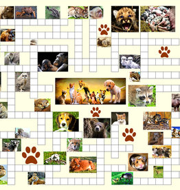 SunsOut Crossword Puzzle Combo Baby Animals 500pc