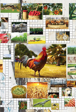 SunsOut 1000pc Crossword Combo Farm
