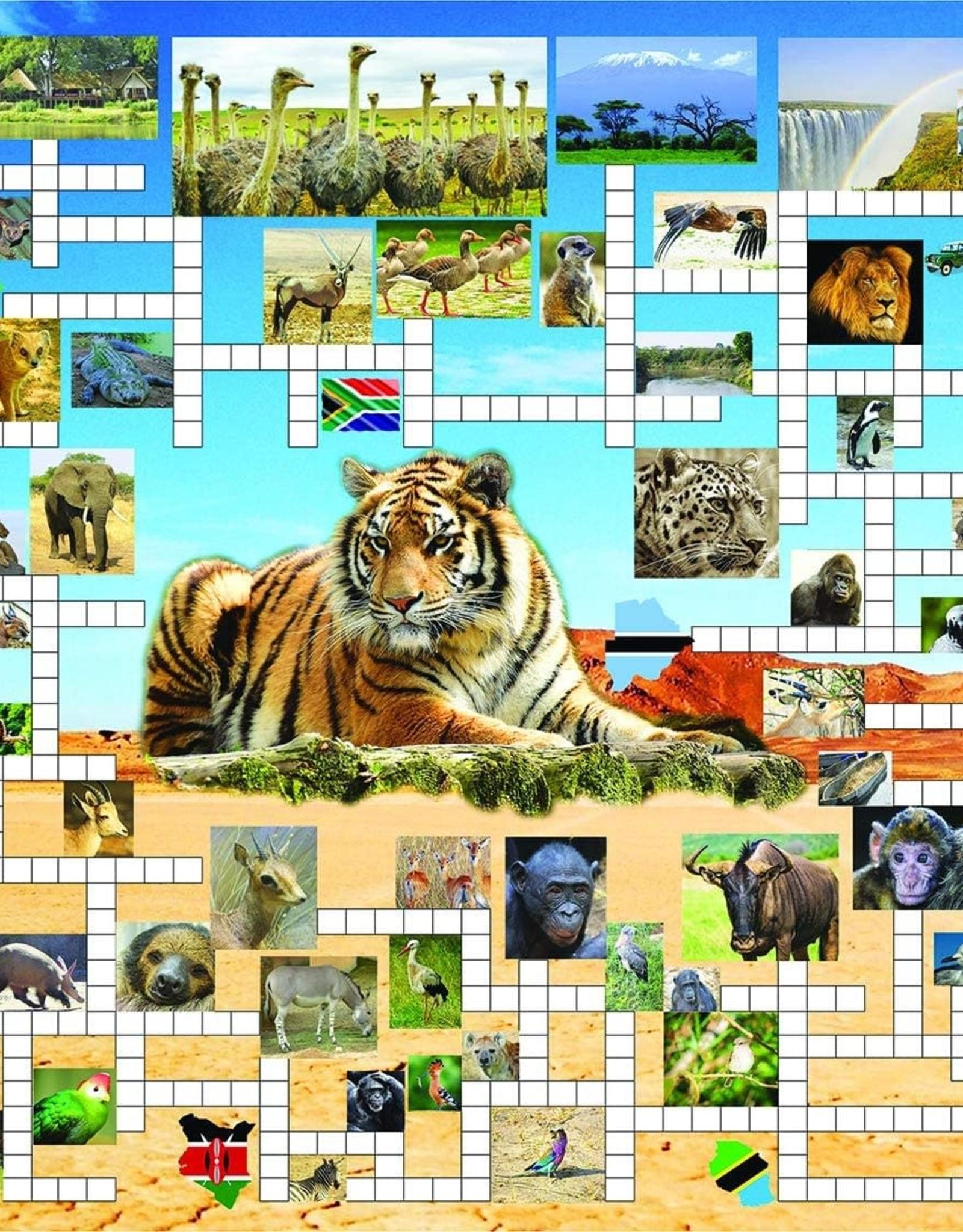 SunsOut 1000pc Crossword Combo Safari