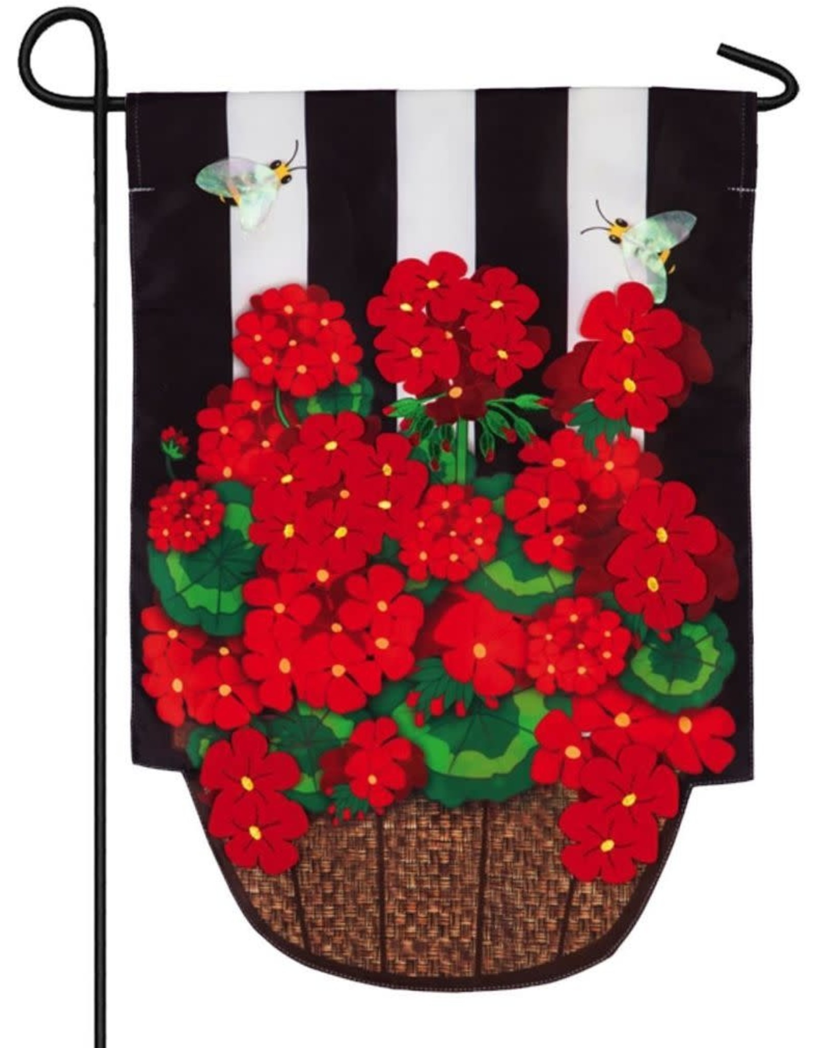 Evergreen EV Geranium Basket Stripe GF