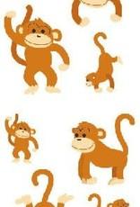 Mrs. Grossman's Sticker Strip Playful Monkeys