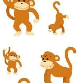 Mrs. Grossman's Sticker Strip Playful Monkeys