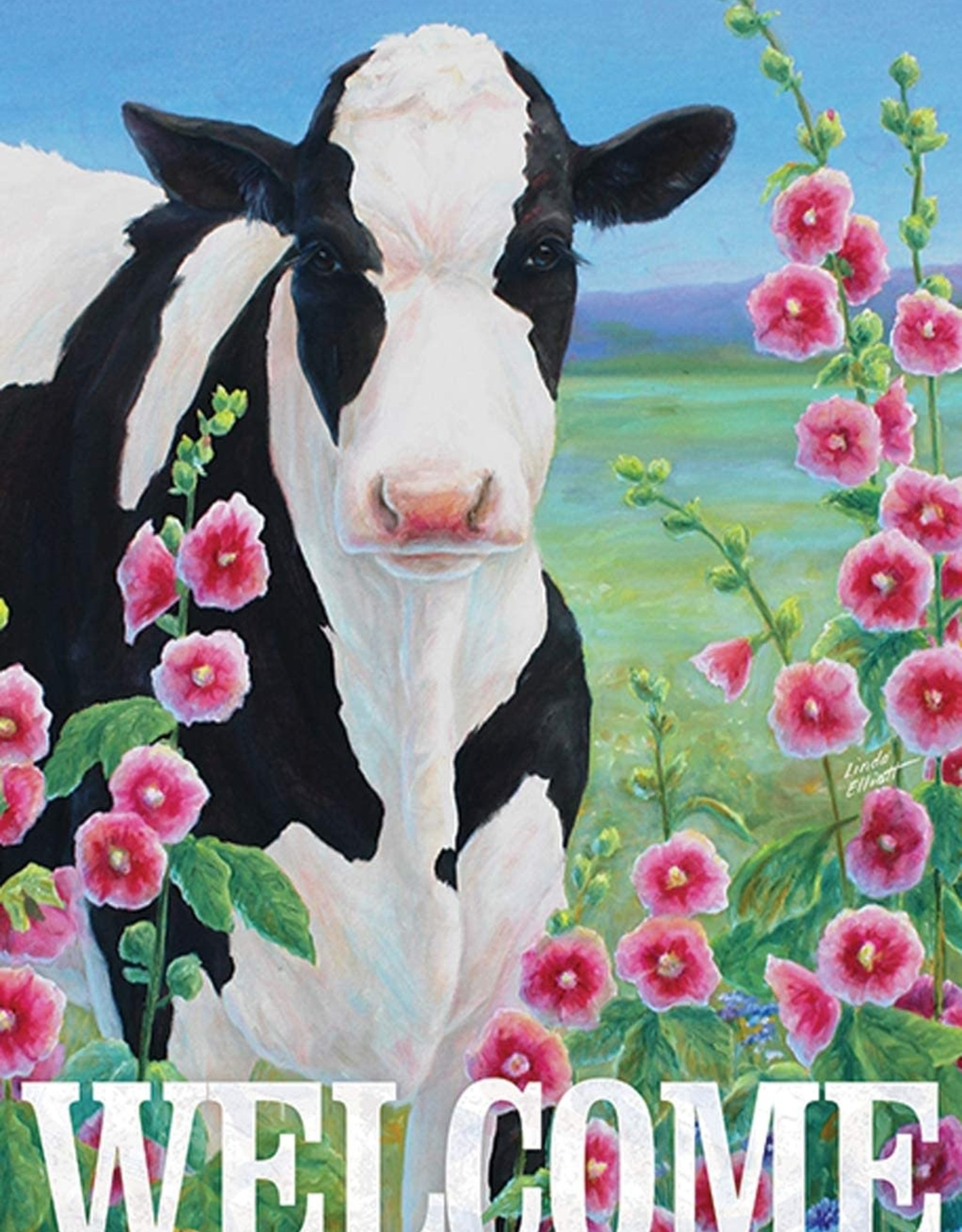 Carson C Holstein in Hollyhocks GF