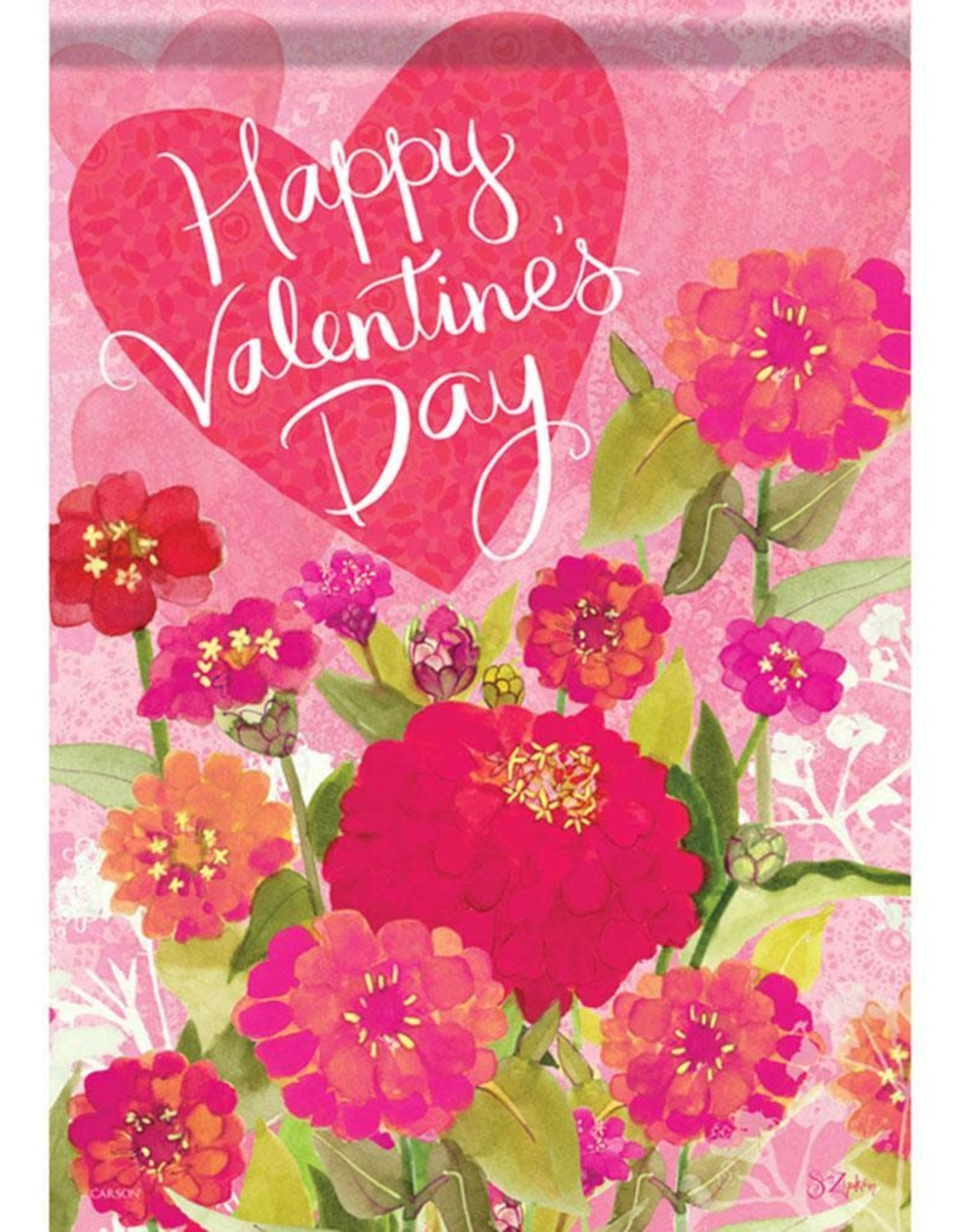 Carson C Valentine Zinnias