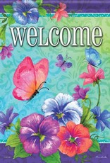 Carson C Pansies & Butterflies