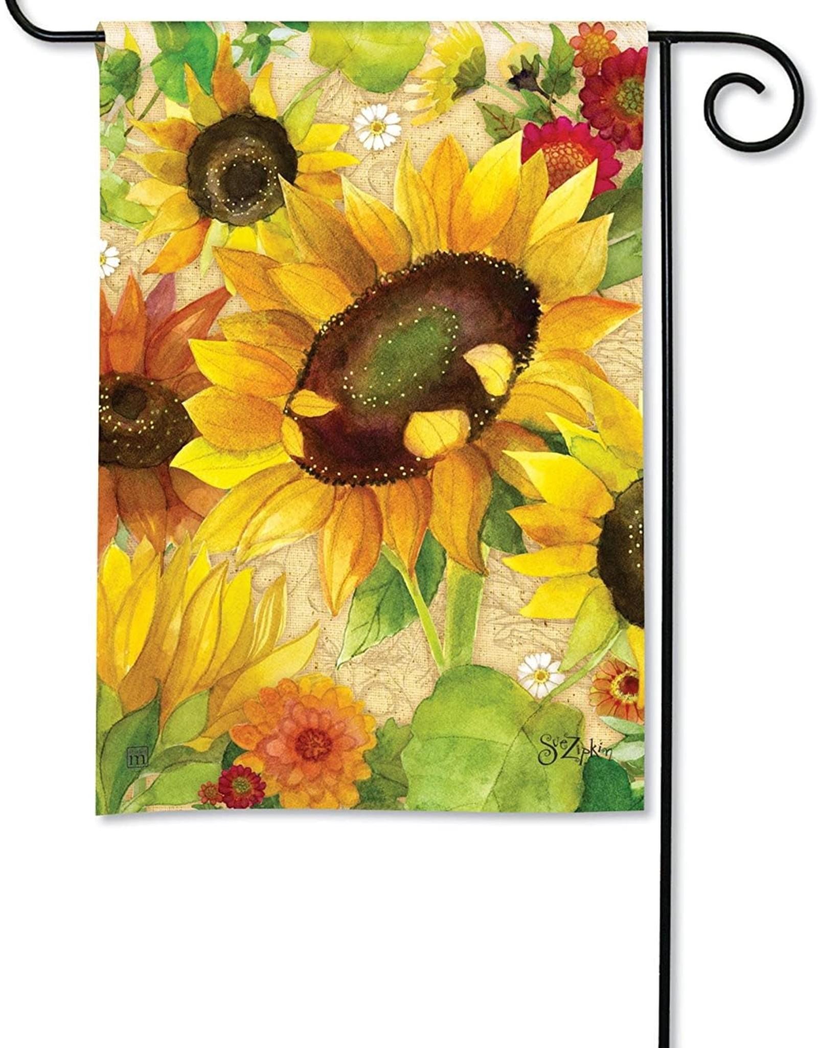 Studio M Yellow Sunflower House Flag