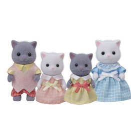 Calico Critters CC Persian Cat Family