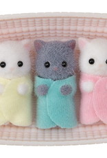 Calico Critters CC Persian Cat Triplets