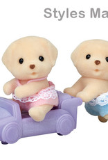 Calico Critters CC Yellow Lab Dog  Twins