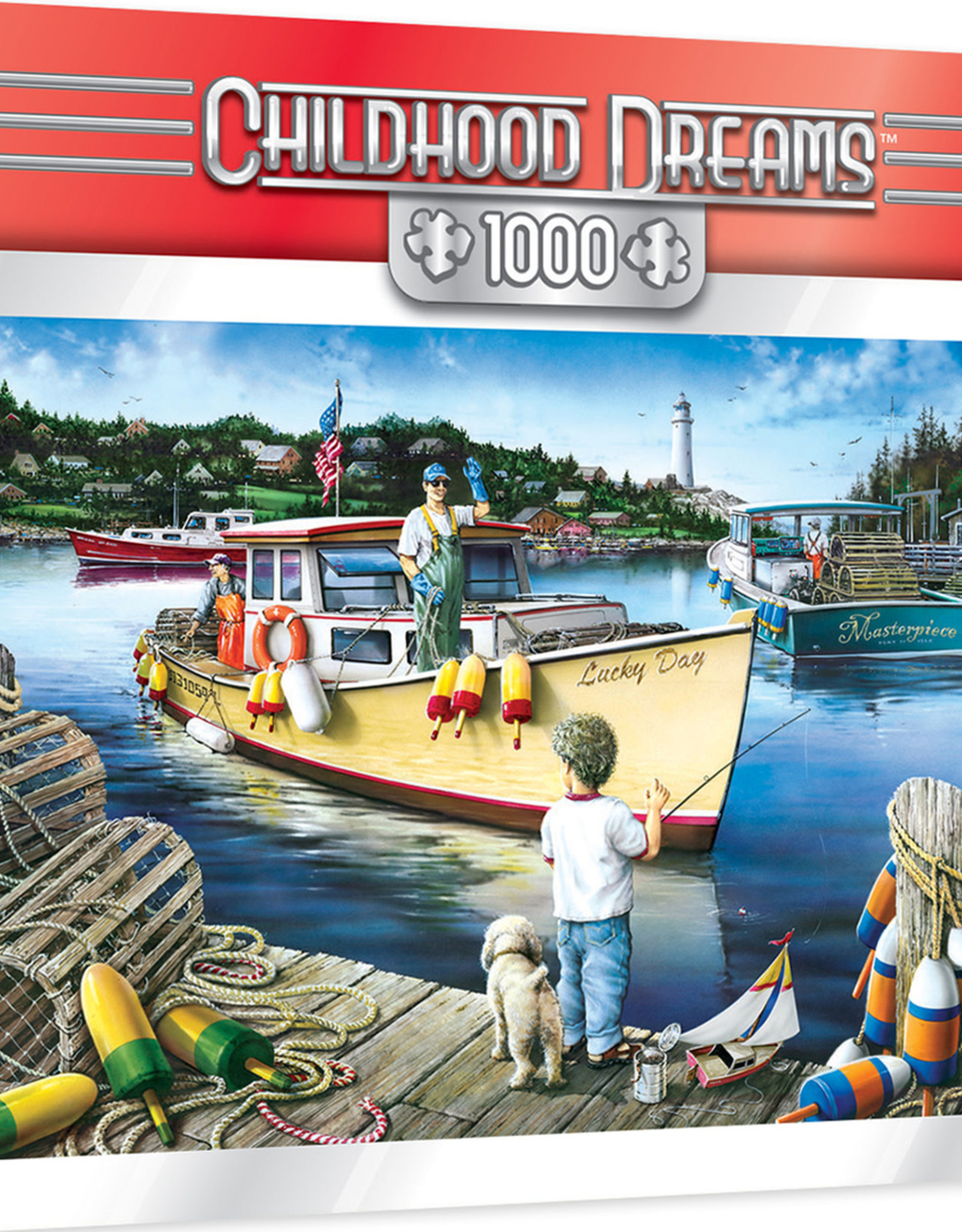 Master Pieces 1000pc Childhood Dreams Lucky Day Puzzle