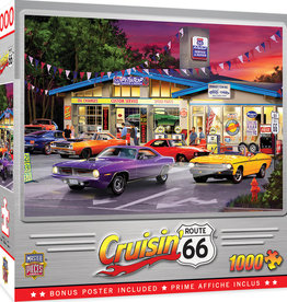 Master Pieces 1000pc Cruisin' Rt66 - Route 66 Pitstop Puzzle
