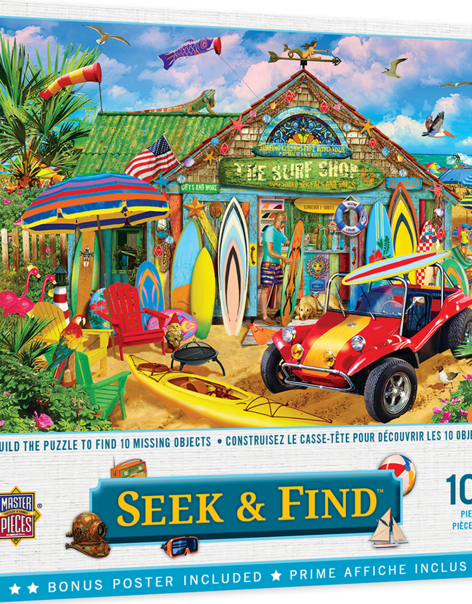 Master Pieces 1000pc Seek & Find - Beach Time Fun Puzzle