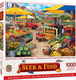Master Pieces 1000pc Seek & Find - Market Square Puzzle
