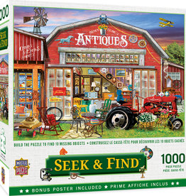 Master Pieces 1000pc Seek & Find - Antiques for Sale Puzzle