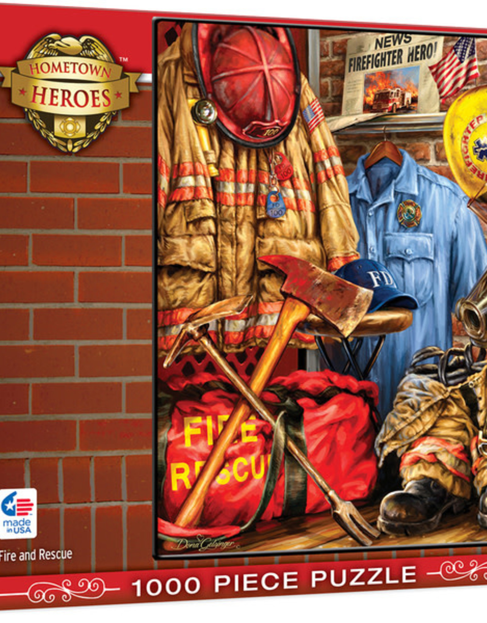 Master Pieces 1000pc Hometown Heroes - Fire and Rescue Puzzle
