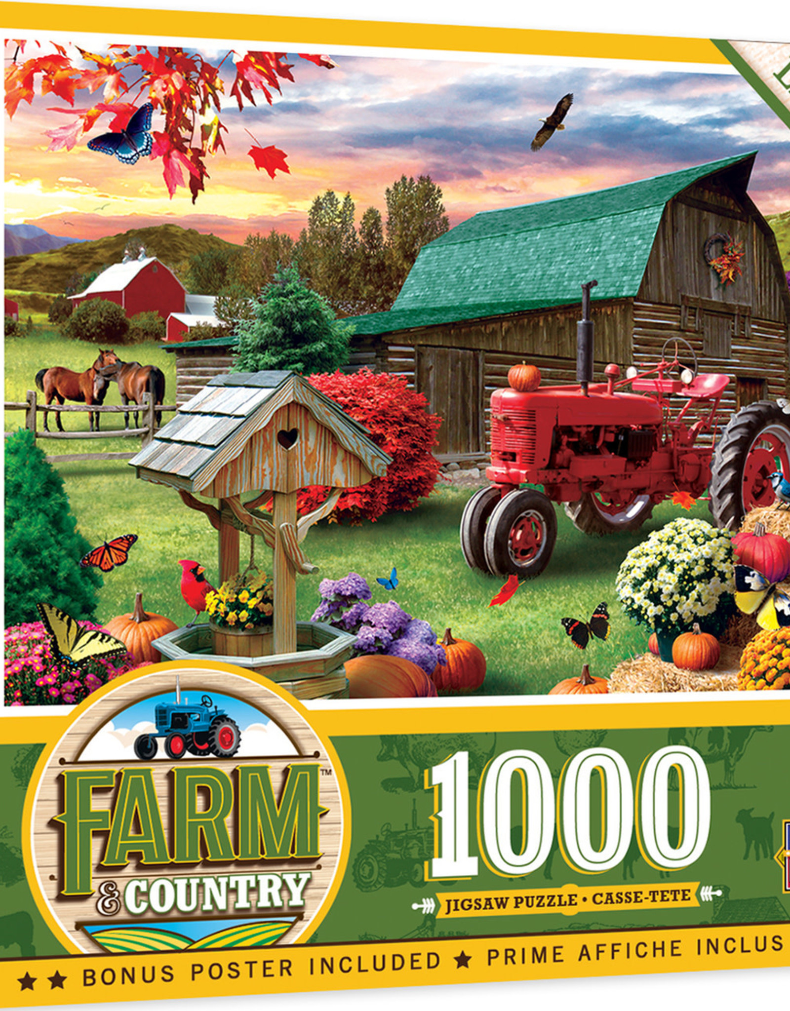 Master Pieces 1000pc Farm & Country - Harvest Ranch