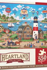 Master Pieces 550pc Heartland Collection - Balloons Over the Bay Puzzle