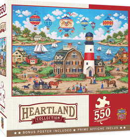 Master Pieces 550pc Heartland Collection - Balloons Over the Bay Puzzle