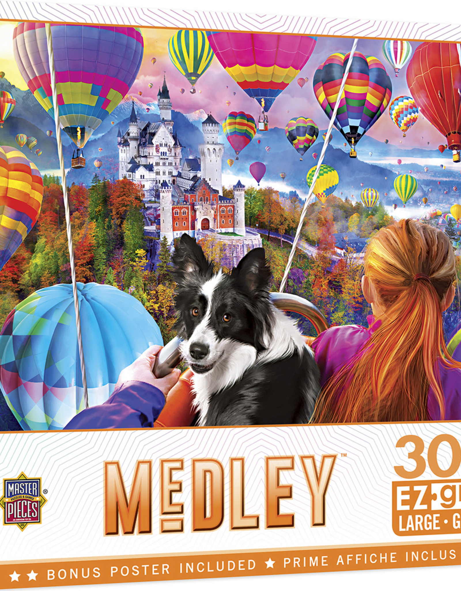 Master Pieces 300pc Medley - Neuschwanstein Balloons EzGrip Puzzle
