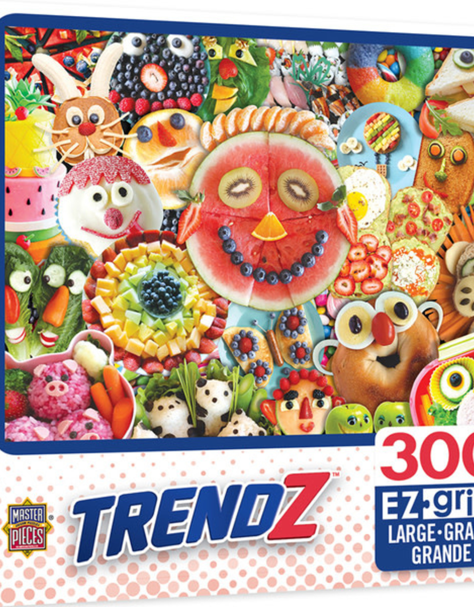 Master Pieces 300pc EZ Grip Funny Face Food
