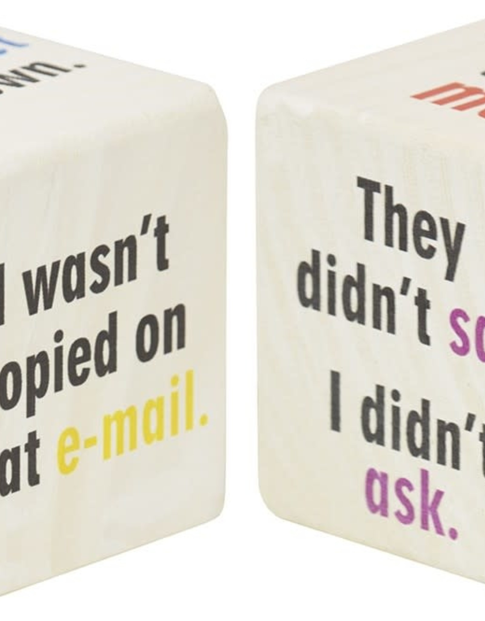 Maple Landmark Home Decor Chatterblocks Cube Excuses
