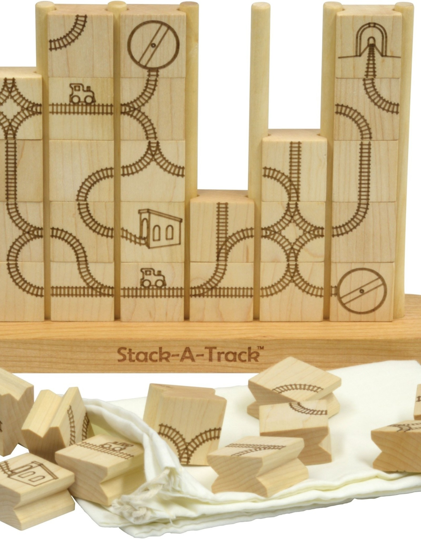 Maple Landmark Stack-A-Track Game