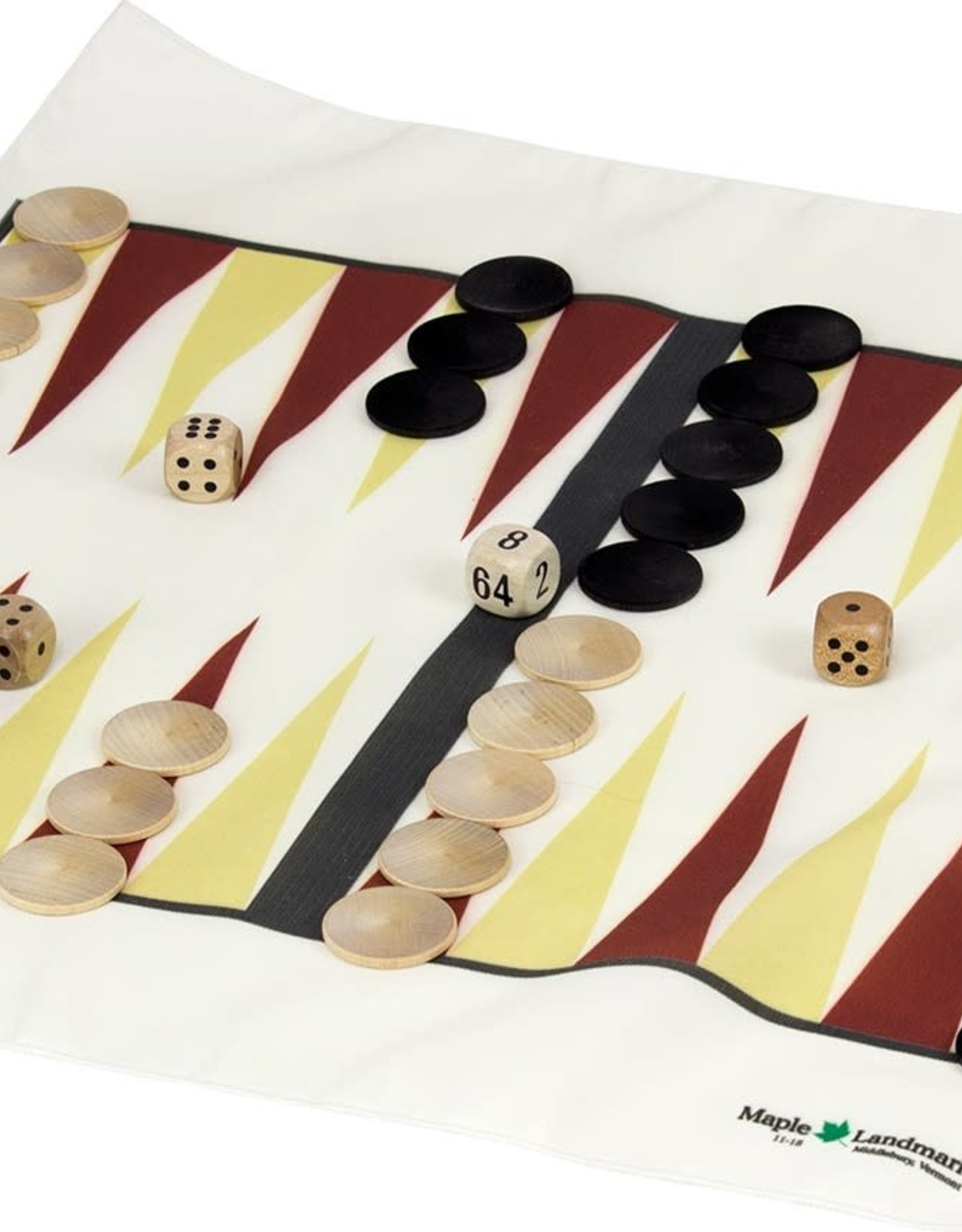 Maple Landmark Backgammon Set Travel Canvas