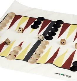 Maple Landmark Backgammon Set Travel Canvas