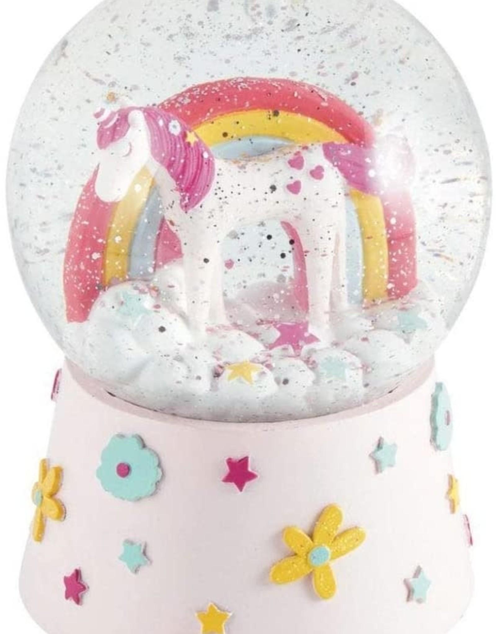 Floss & Rock Musical Snow Globe Unicorn