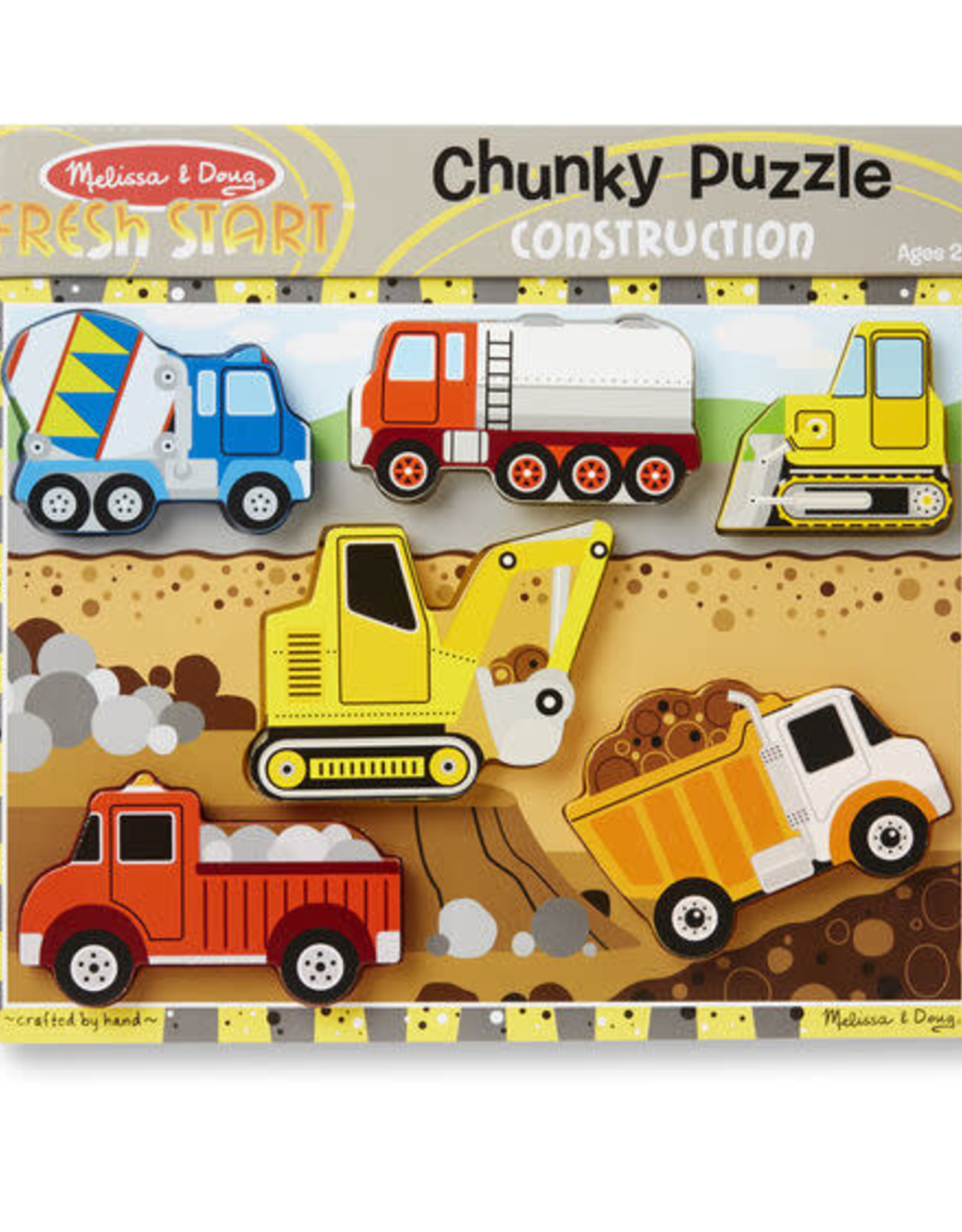 Melissa & Doug MD Chunky Puzzle Construction