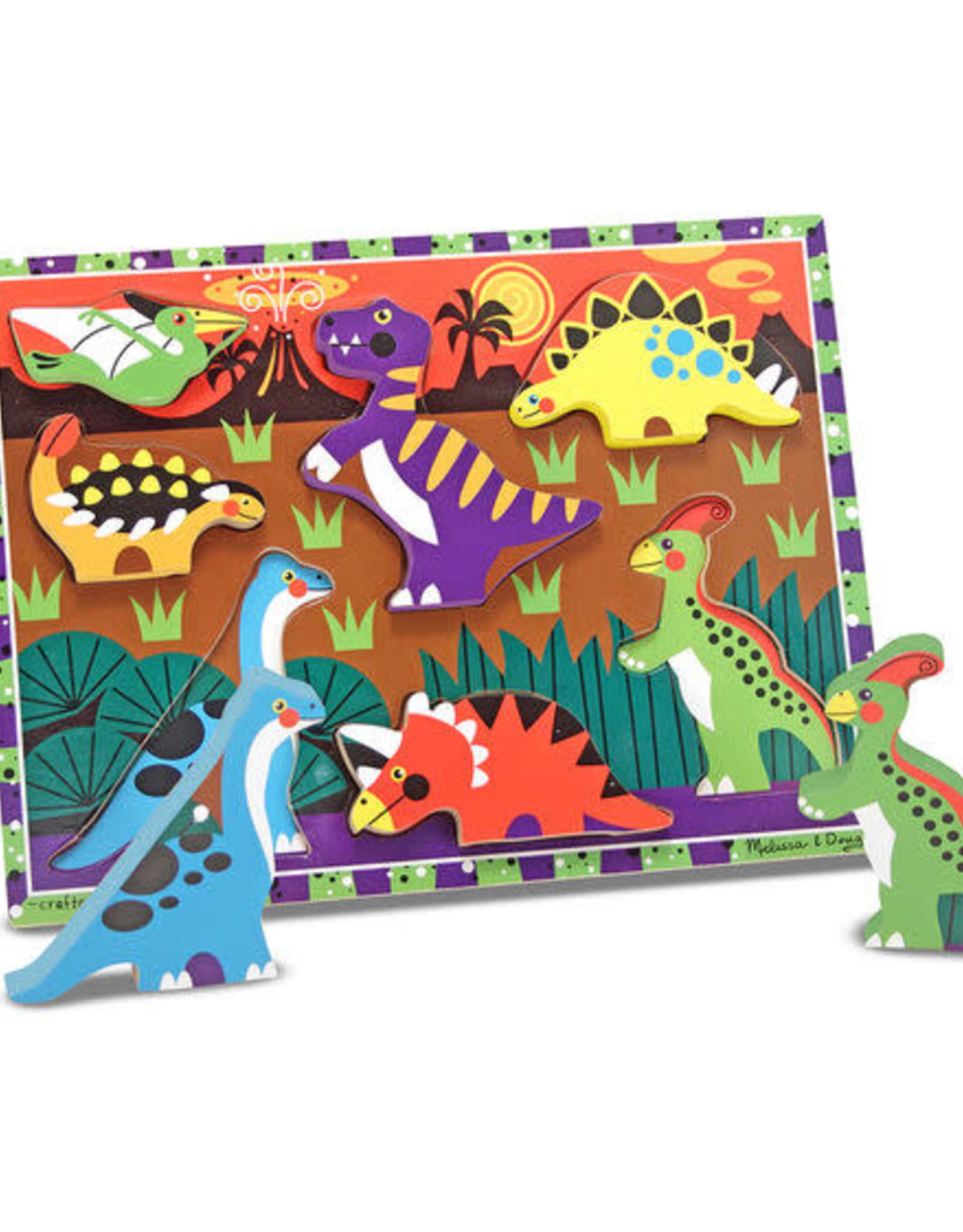 Melissa & Doug MD Chunky Puzzle Dinosaurs