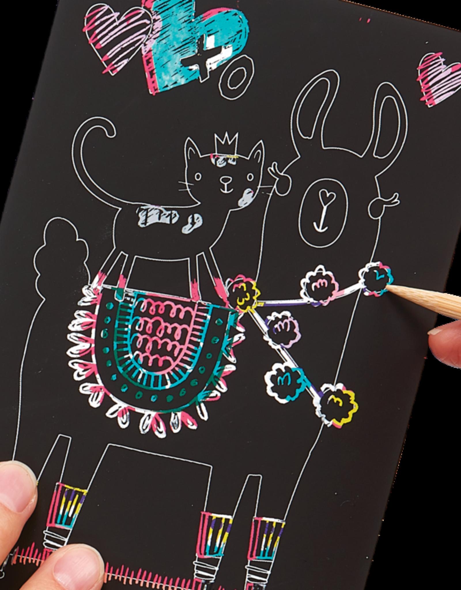 Ooly Scratch Art Mini Funtastic Friends