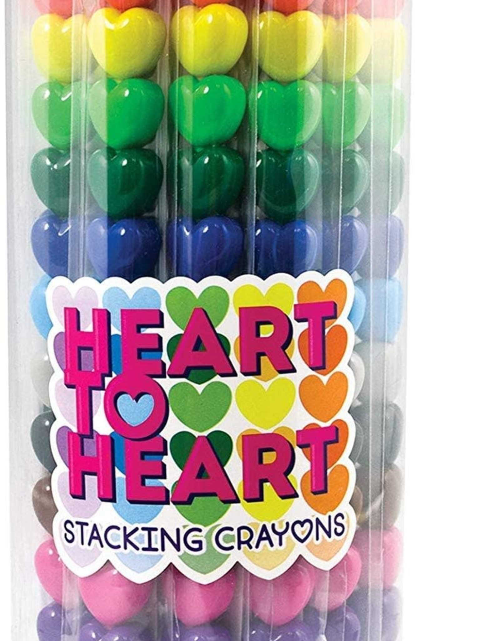 Ooly 1 Crayons Stacking Hearts