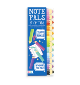 Ooly Note Pals Sticky Tabs - Colorful Pencils