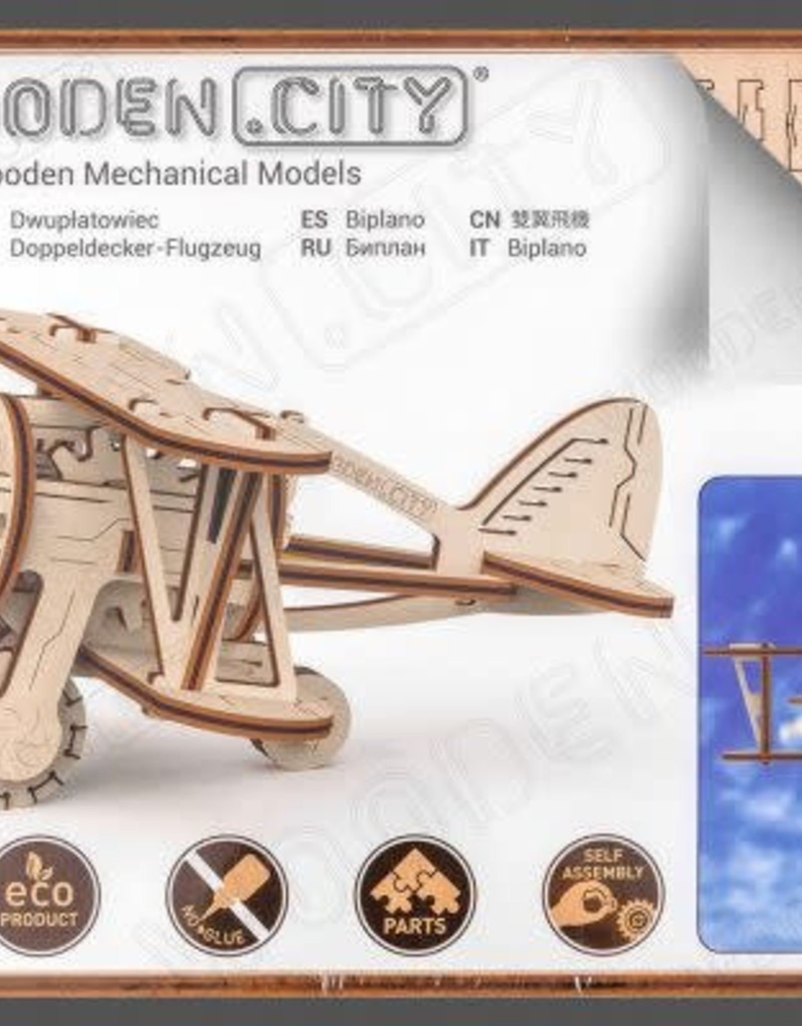 Wooden.City WoodenCity Biplane