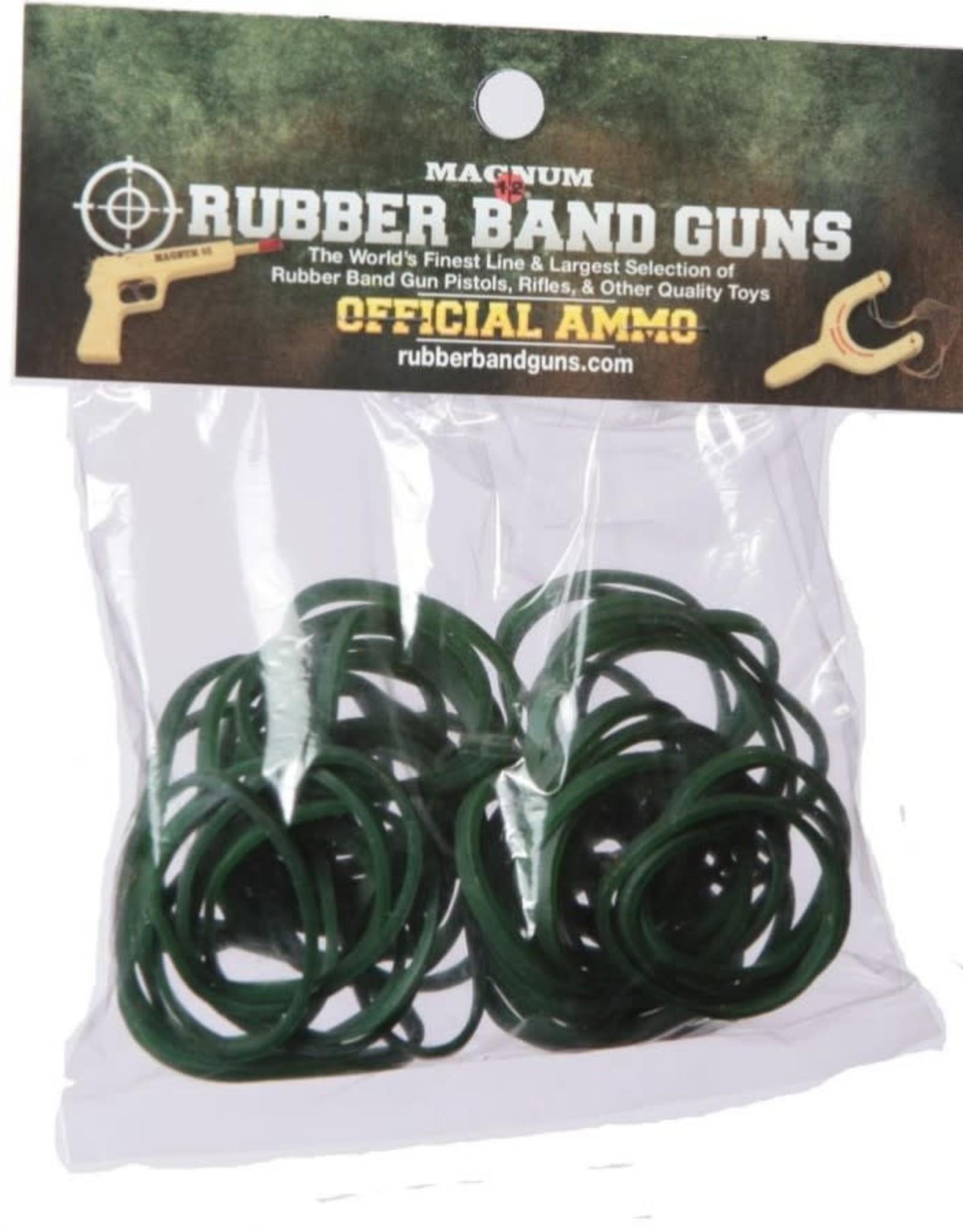 Rubber Band Gun Ammo 1 oz Green