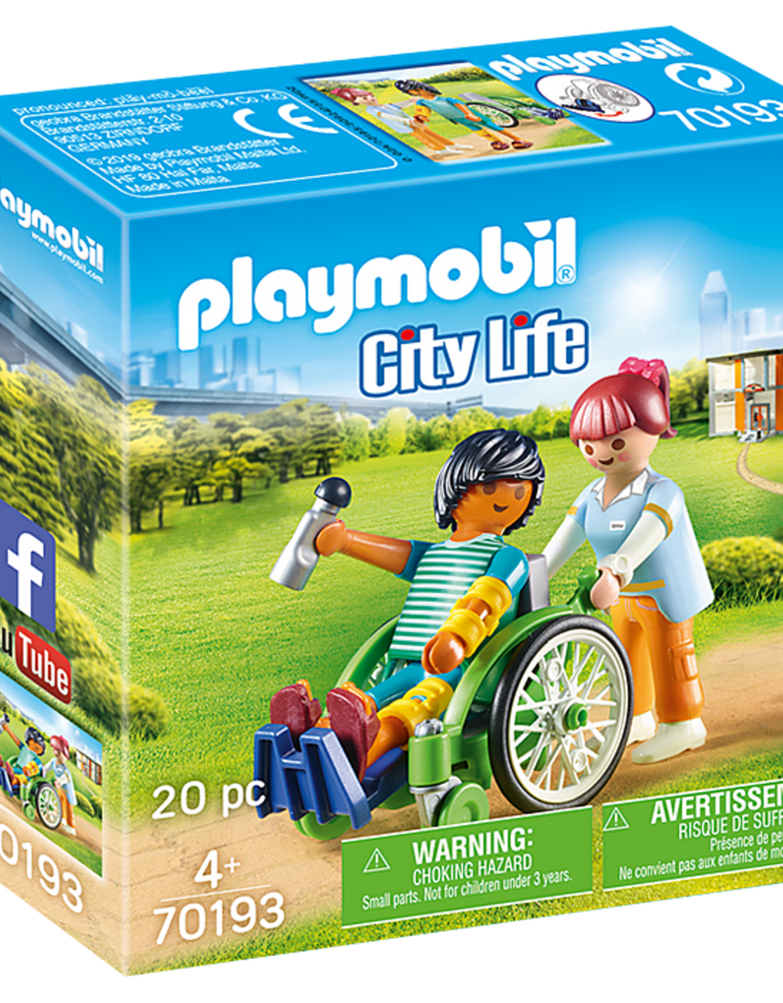 Playmobil PM Patient in Wheelchair