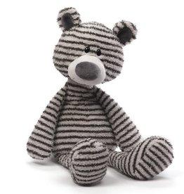 Gund Zag Black & Gray Stripe Bear