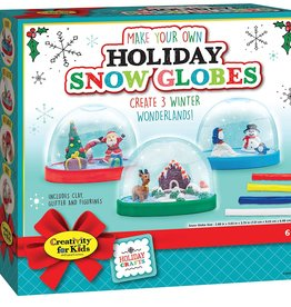Creativity for Kids Craft Kit Holiday Snow Globes